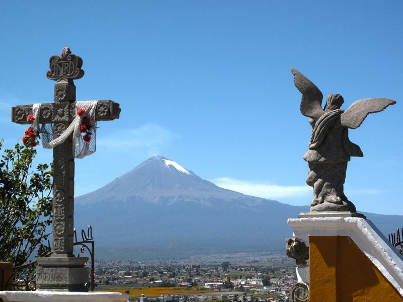 Popocatepetl seen from Cholula