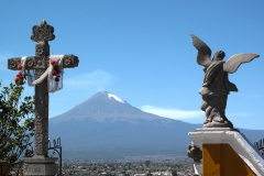 Popocatepetl seen from Cholula