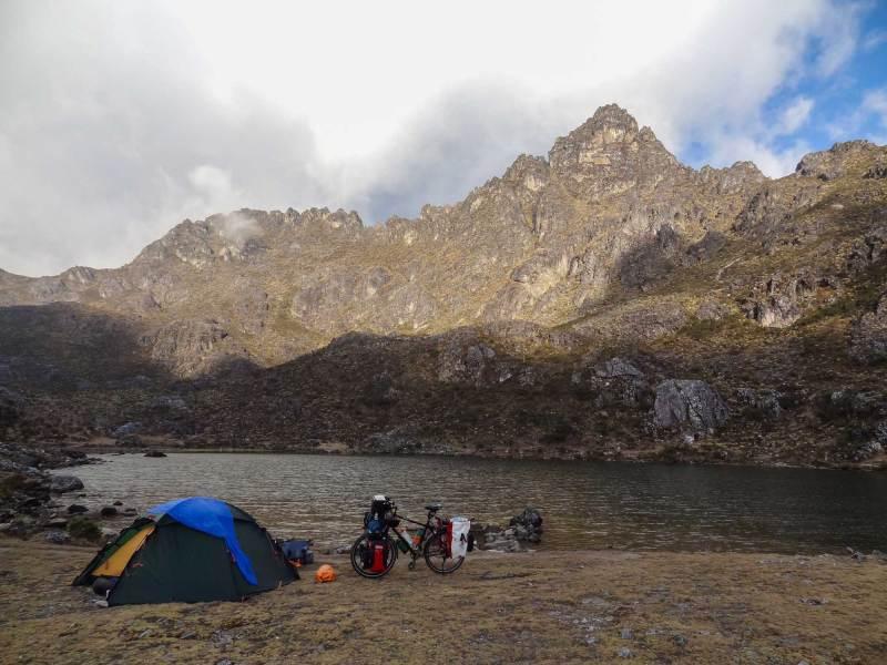 Camp bei der Laguna los Guaches