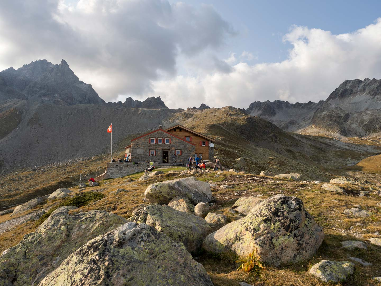 Ankunft bei der Chamanna d'Es-Cha auf 2594 m