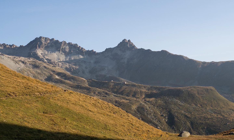 Blick zurück zur Chamanna d'Es-Cha